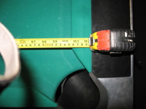 To determine Billiard table room size, measure your Billiard table play field.